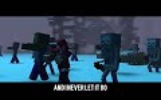 The struggle a minecraft original music video