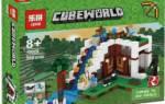 Лего майнкрафт база на водопаде