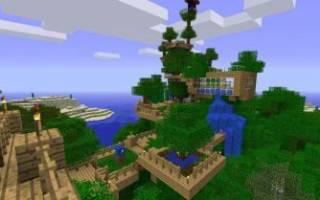 Дом на дереве майнкрафт