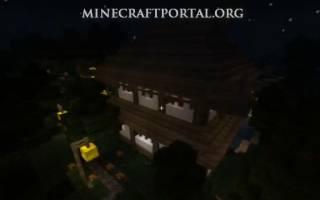 Японский дом в майнкрафте