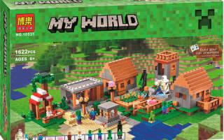 Лего майнкрафт большая деревня