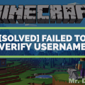 Failed to verify username minecraft