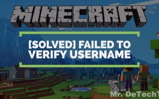 Failed to verify username minecraft