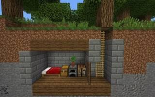 Как построить в майнкрафте дом под землей