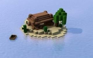 Майнкрафт выживание на острове с друзьями